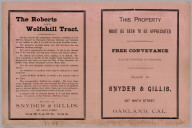 Advertisement: Roberts and Wolfskill Tract