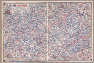 Road map of Kentucky-Tennessee