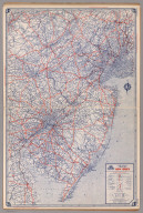 Road map of New Jersey