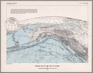 Oblique Map of the Gulf of Alaska.