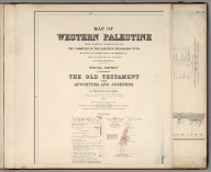 (Sheet 1). Western Palestine Illustrating The Old Testament, The Apocrypha and Josephus.
