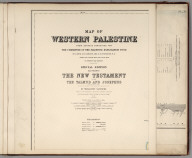 (Sheet 1). Western Palestine Illustrating The New Testament, also The Talmud and Josephus.