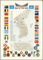 Pacific Stars and Stripes Map of the (Korean) War.