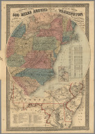 G. Woolworth Colton's map of the country 500 miles around the city of Washington