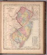 Map of New Jersey : Published by Charles Desilver. 13