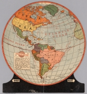 "Fold-O-Globe, Trade Mark Registered. ""Round Like the Earth"""