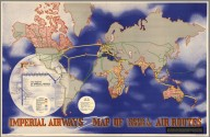 Imperial Airways Map of Empire & European Air Routes.