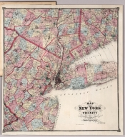 Map of New York and Vicinity Accompanying Atlas of New York and Vicinity.