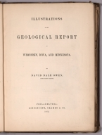 Title Page: Illustrations to the Geological Report of Wisconsin, Iowa, and Minnesota