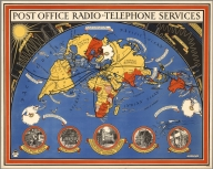 Post office radio - telephone services. MacDonald Gill, 1935. P.R.D. 98.