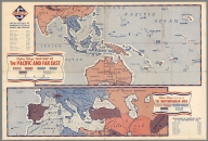 Clifton Utley's war map of the Pacific and far East & Mediterranean area