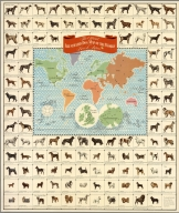 The official illustrated dog map of the world. Ken - L. Ration