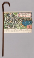 Map Stick Cane with map of The New York 1939 World's Fair.
