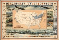 Defense Map of United States. Mobilization of our Military and Economic Resources.