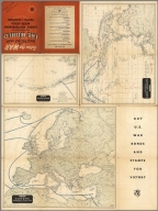 Hagstrom's Map of the Aleutian Islands, Alaska, Southwest Pacific, Europe, Mediterranean, North Africa.