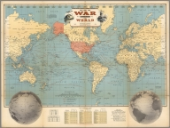 Follow the War with Hagstrom's Map of the World.