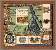 Cover is an Envelope: Pictorial map of the city of Mexico and surroundings yesterday and today.