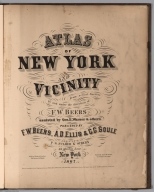 Title Page: Atlas Of New York And Vicinity.