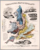 Geological map of England