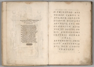 Text: Epigram and Dedication to King Philip II of Spain.