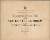 Covers: Geographical and political atlas of the states and territories of the United States