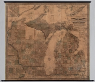 Map of the states of Michigan and Wisconsin