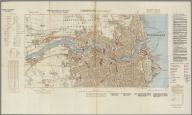Street Map of Sunderland, England with Military-Geographic Features. BB 3.