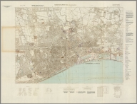 Street Map of Kingston upon Hull, England with Military-Geographic Features. BB 10.