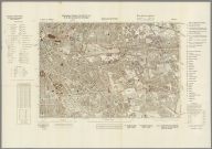Street Map of Manchester, England with Military-Geographic Features. BB 12m.