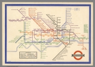 Map of London's Underground Railways.