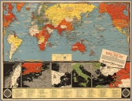 New Dated Events World War Map. 1942 ... Second Front.