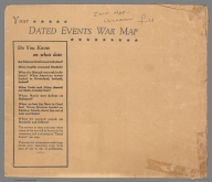 Covers (Envelope): Dated Events War Map. 1945. 18th Edition.