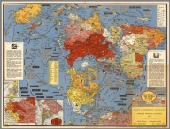 Dated Events Map. The World Today with Latest Boundaries. (1948.)