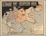 Germany: Map of the Occupation Areas. Carte der Besatzungs - Zonen.