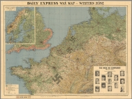 Daily Express War Map, Western Zone.