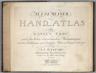 Title: Hand Atlas of the Whole Earth.