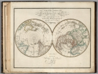 II. Southern and Northern hemisphere of the earth according to the latest discoveries.