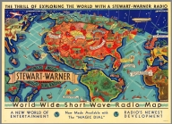 World Wide Short Wave Radio Map.