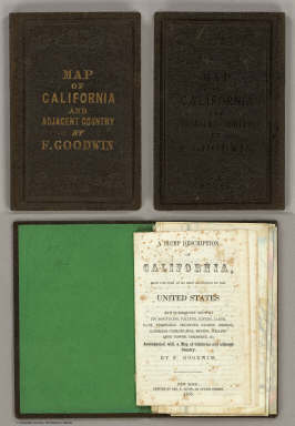 Cover: California, adjacent country. / Goodwin, F.A. / 1855