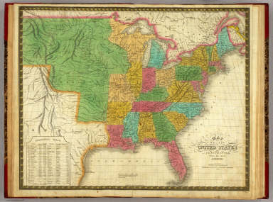 Map of the United States. / Mitchell, Samuel Augustus / 1831
