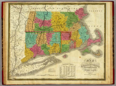 Map Of Massachusetts, Connecticut And Rhode Island Constructed from the Latest Authorities. Published by S. Augustus Mitchell Philadelphia. 1831. J.H. Young Sc.