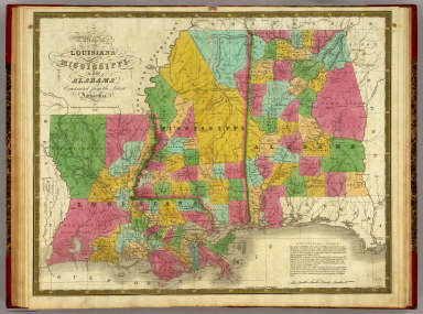 Map of Louisiana, Mississippi and Alabama. / Mitchell, Samuel Augustus / 1831