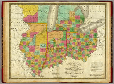 Michigan And Indiana Map.Ohio Indiana Illinois And Part Of Michigan Territory Mitchell