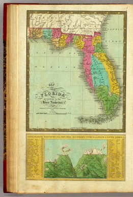 Map of Florida. / Mitchell, Samuel Augustus / 1831
