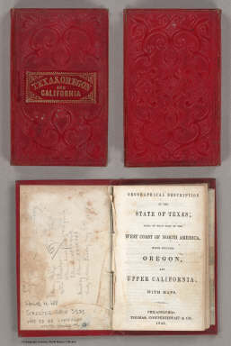 Cover: Geographical description, State of Texas. / Thomas, Cowperthwait & Co. ; Mitchell, Samuel Augustus / 1846