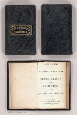 Cover: Texas, Oregon and California. / Mitchell, Samuel Augustus / 1846