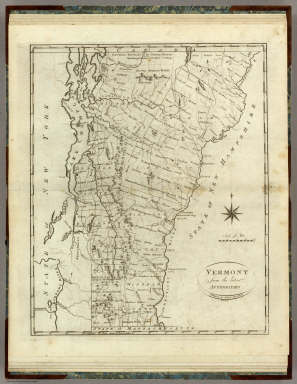 Vermont from the latest Authorities. Published by J. Reid, New York. Roberts sc.