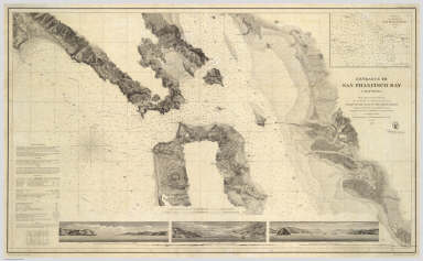 Entrance to San Francisco Bay California. From a Trigonometrical Survey under the direction of A.D. Bache Superintendent of the Survey Of The Coast Of The United States. Triangulation by R.D. Cutts Asst. & A.F. Rodgers Sub-Assts. Hydrography by the Party under the command of Lieut. Comdg. James Alden U.S.N. Asst. 1859. U.S. Coast Survey Office. Verified W.R. Palmer ... No. 36. Redd. Drng. by W.M.C. Fairfax, J. Lambert, & J.J. Ricketts. Engd. by J. Knight, A. Blondeau & G.B. Metzeroth. Electrotype Copy No. 2 by G. Mathiot U.S.C.S. (inset map) Sub-Sketch Of Entrance To San Francisco Bay. 1859.).