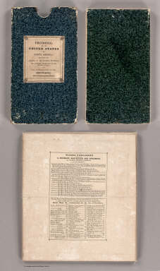 (Covers to) Fredonia Or The United States of North America, Including Also Cabotia, Or The Canadian Provinces, The Western Territory To The Pacific Ocean, And the Northern Part of the Mexican States. 14th August, 1830. Additions 1833.