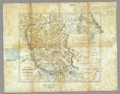 Map Of The Valley Of Mexico And The Surrounding Mountains Bruff